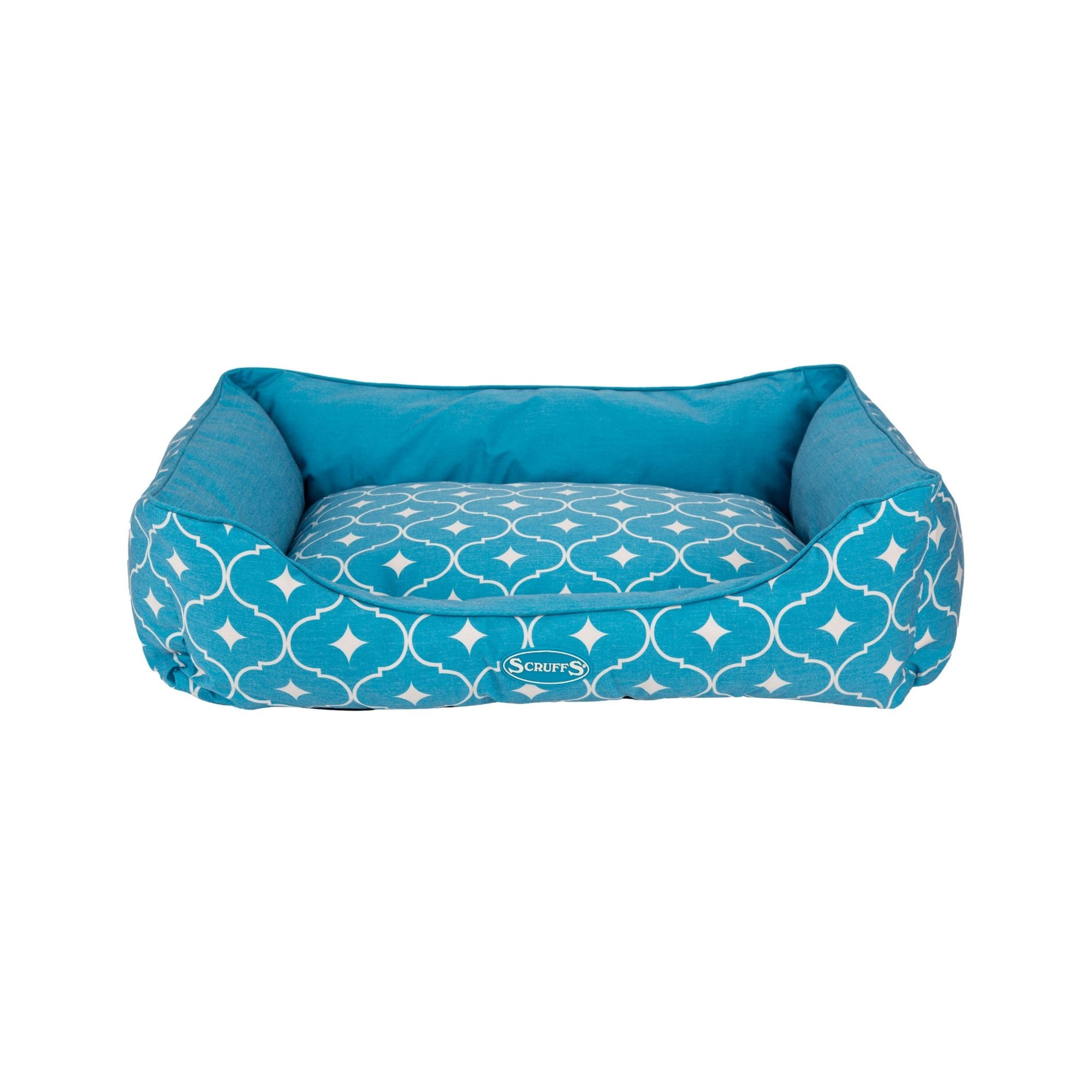 Scruffs Casablanca Box Bed Blue, Tough Dog Bed | Barks & Bunnies