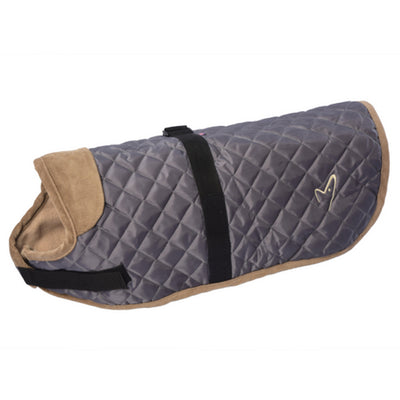 Gor Pets Worcester Dog Coat Grey, Quilted Winter Dog Coat | Barks & Bunnies