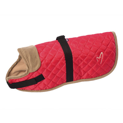 Gor Pets Worcester Dog Coat Red, Quilted Winter Dog Coat | Barks & Bunnies