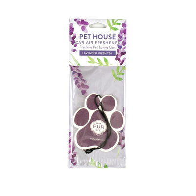 One Fur All Car Air Freshener Lavender Green Tea, Pet Friendly | Barks & Bunnies