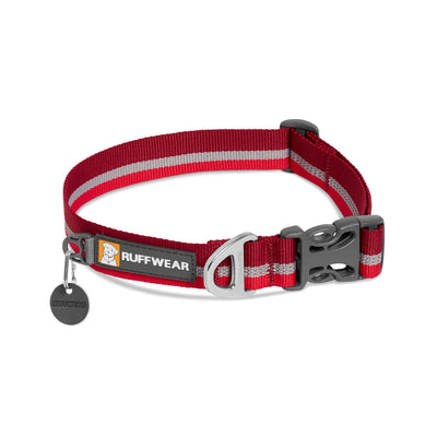 Ruffwear Crag Collar Cindercone Red, Durable Dog Collar | Barks & Bunnies