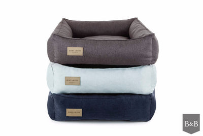 Bowl & Bone Republic Urban Bed Navy, Dog Bed | Barks & Bunnies