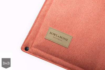 Bowl & Bone Republic Loft Mat Coral, Travel Dog Bed | Barks & Bunnies