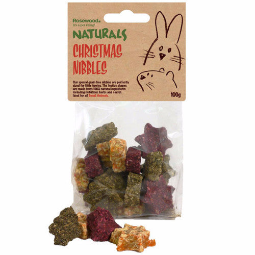 Rosewood Naturals Christmas Nibbles, Treats for Rabbits | Barks & Bunnies