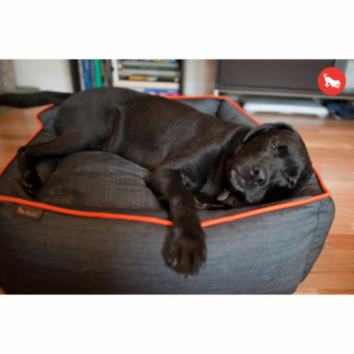 P.L.A.Y. Urban Denim, Designer, Luxury, Premium Dog Bed | Barks & Bunnies