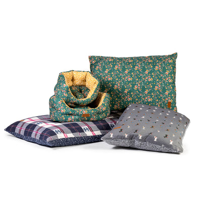 Fat Face Penguin Check Deep Duvet Dog Bed by Danish Design | Barks & Bunnies