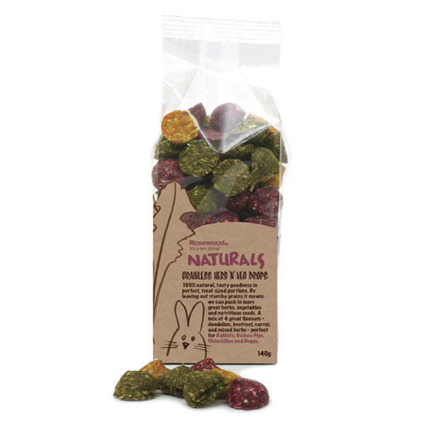 Rosewood Naturals Grainless Herb 'n' Veg Drops | Barks & Bunnies