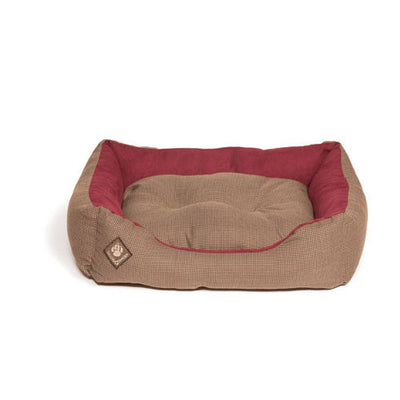 Danish Design Houndstooth Snuggle Bed for Dogs & Puppies | Barks & Bunnies