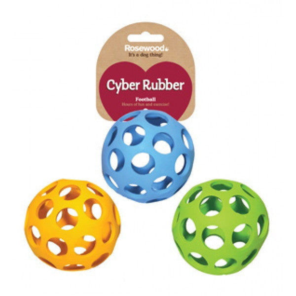 Rosewood Cyber Rubber Lattice Football for Dogs | Barks & Bunnies