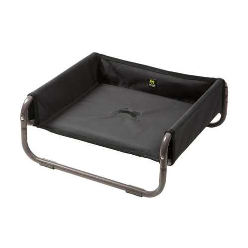 Maelson Raised Soft Dog Bed Grey/Black | Barks & Bunnies