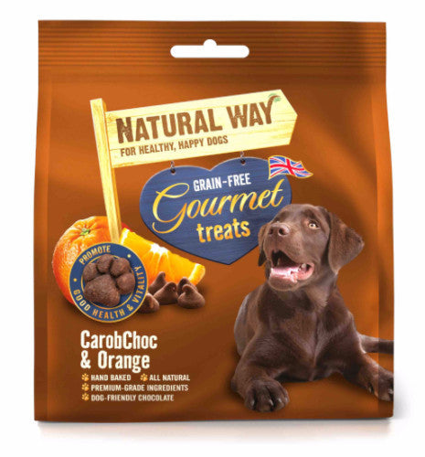 Natural Way CarobChoc & Orange Gourmet Dog Treats | Barks & Bunnies