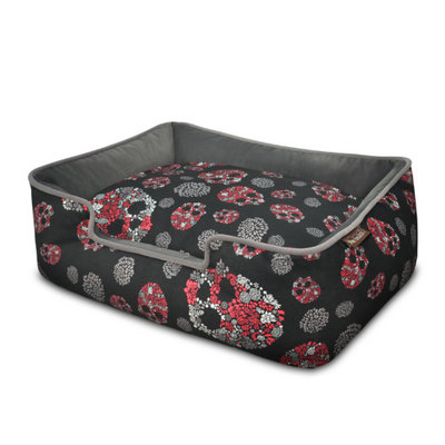 PLAY Skulls & Roses Lounge Bed, Expensive Dog Beds | Barks & Bunnies