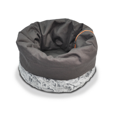 P.L.A.Y. Husky Grey Snuggle Dog & Cat Bed | Barks & Bunnies