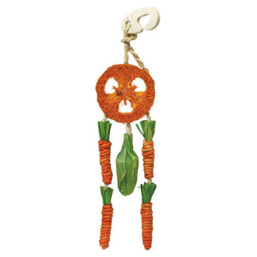 Rosewood Carrot Dream Catcher, Hanging Rabbit Toy | Barks & Bunnies