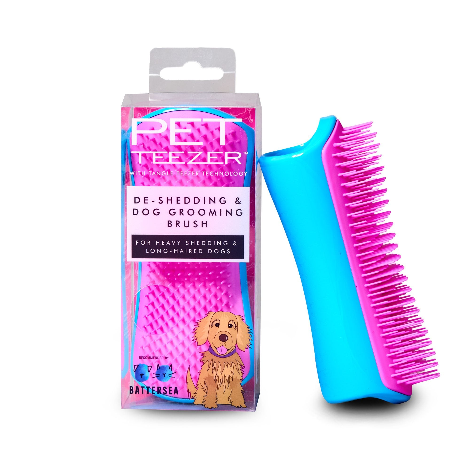 Pet Teezer De-Shedding & Grooming Brush for Dogs | Barks & Bunnies