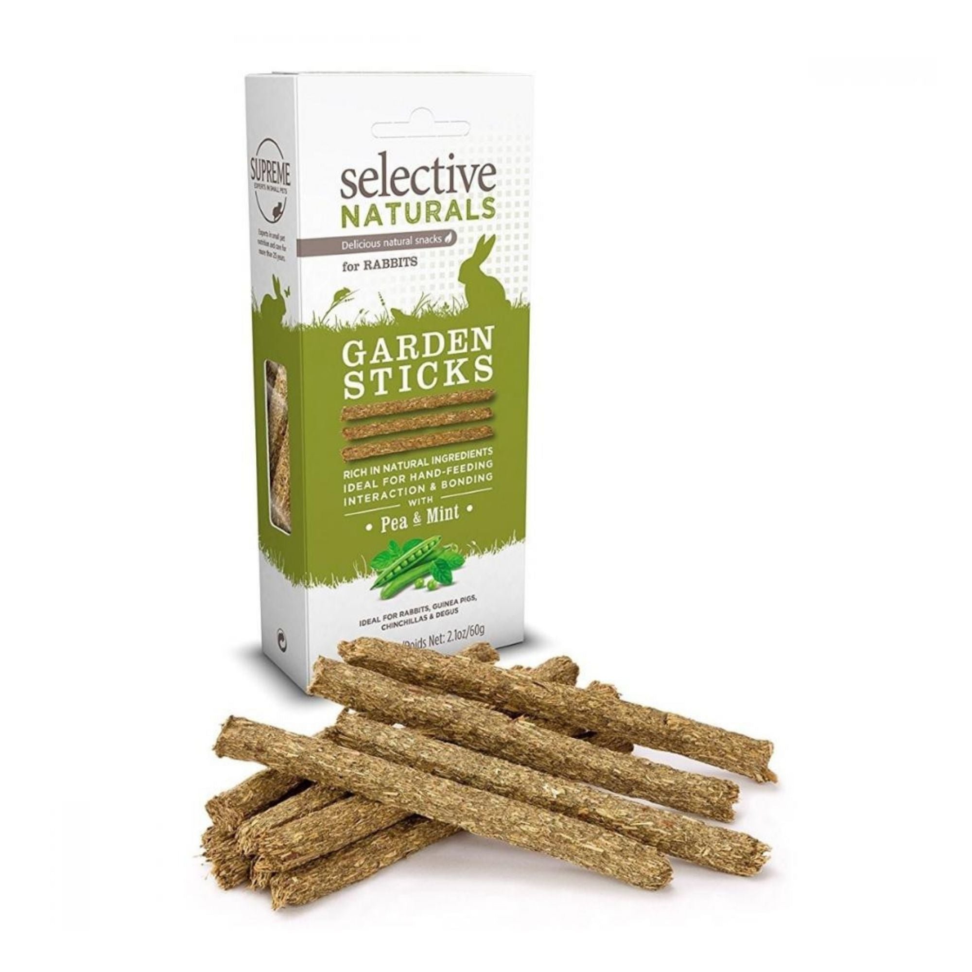 Supreme Selective Naturals Garden Sticks for Rabbits | Barks & Bunnies