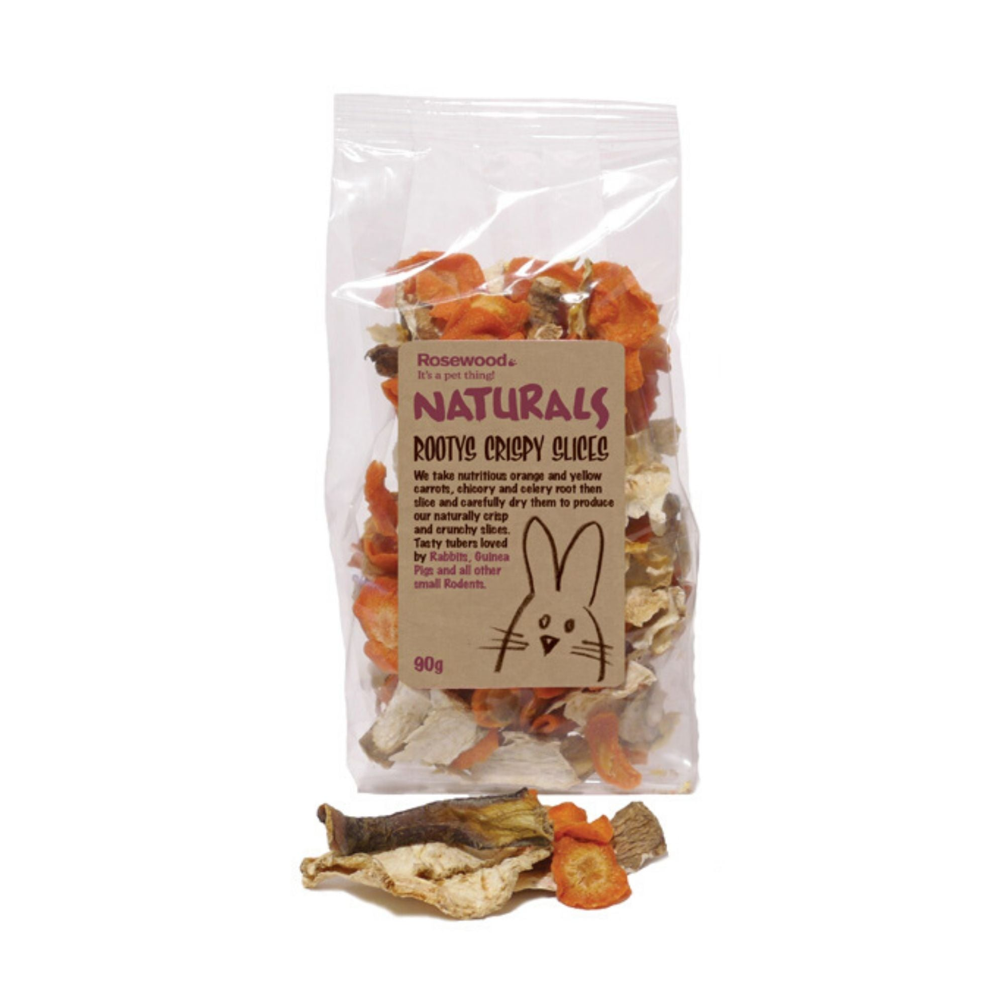 Rosewood Rootys Crispy Slices, Natural Rabbit Treats | Barks & Bunnies