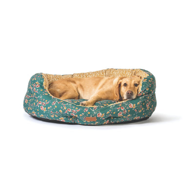 Fat Face Meadow Floral Deluxe Slumber Dog Bed by Danish Design | Barks & Bunnies
