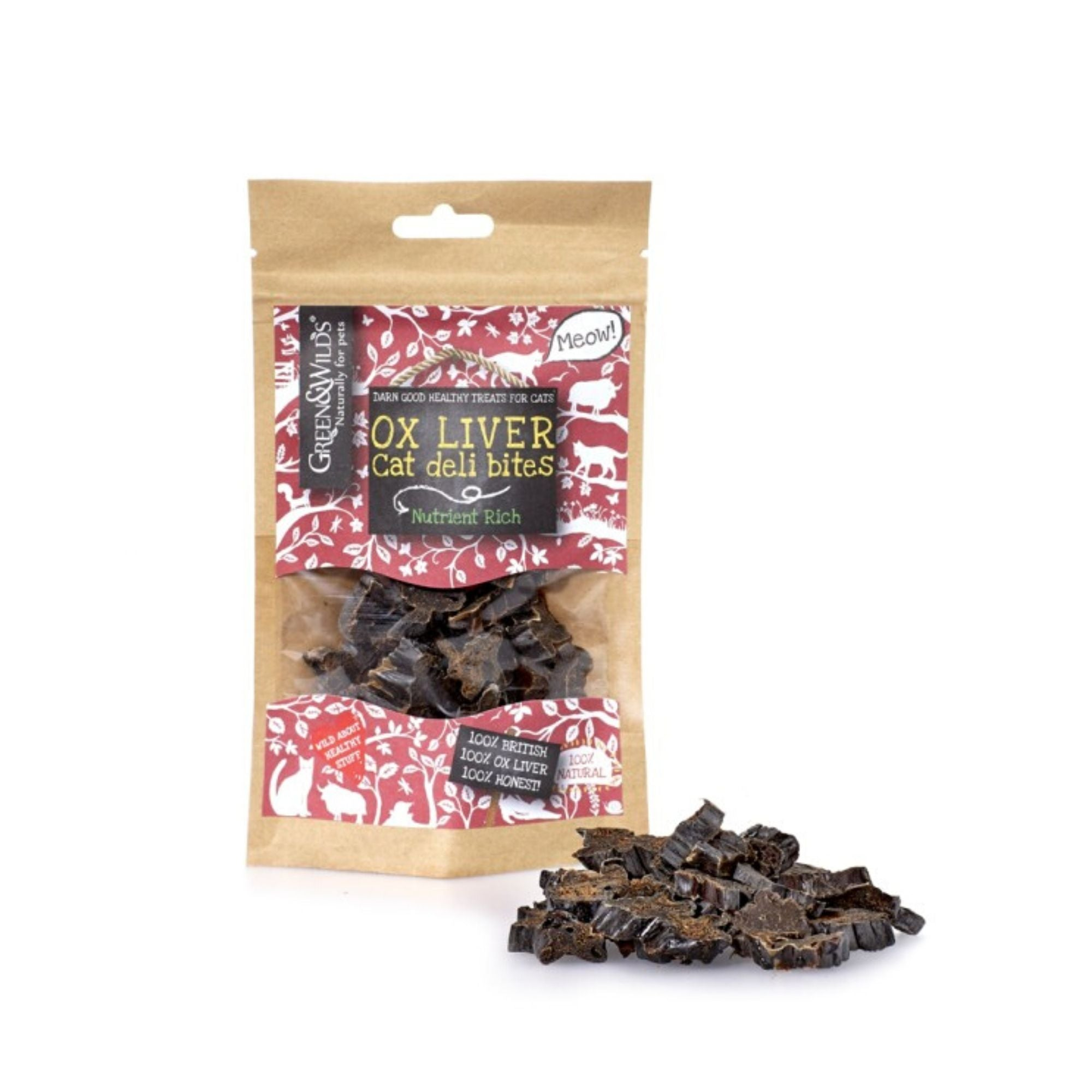 Green & Wilds Ox Liver Deli Bites, Natural Cat Treat | Barks & Bunnies
