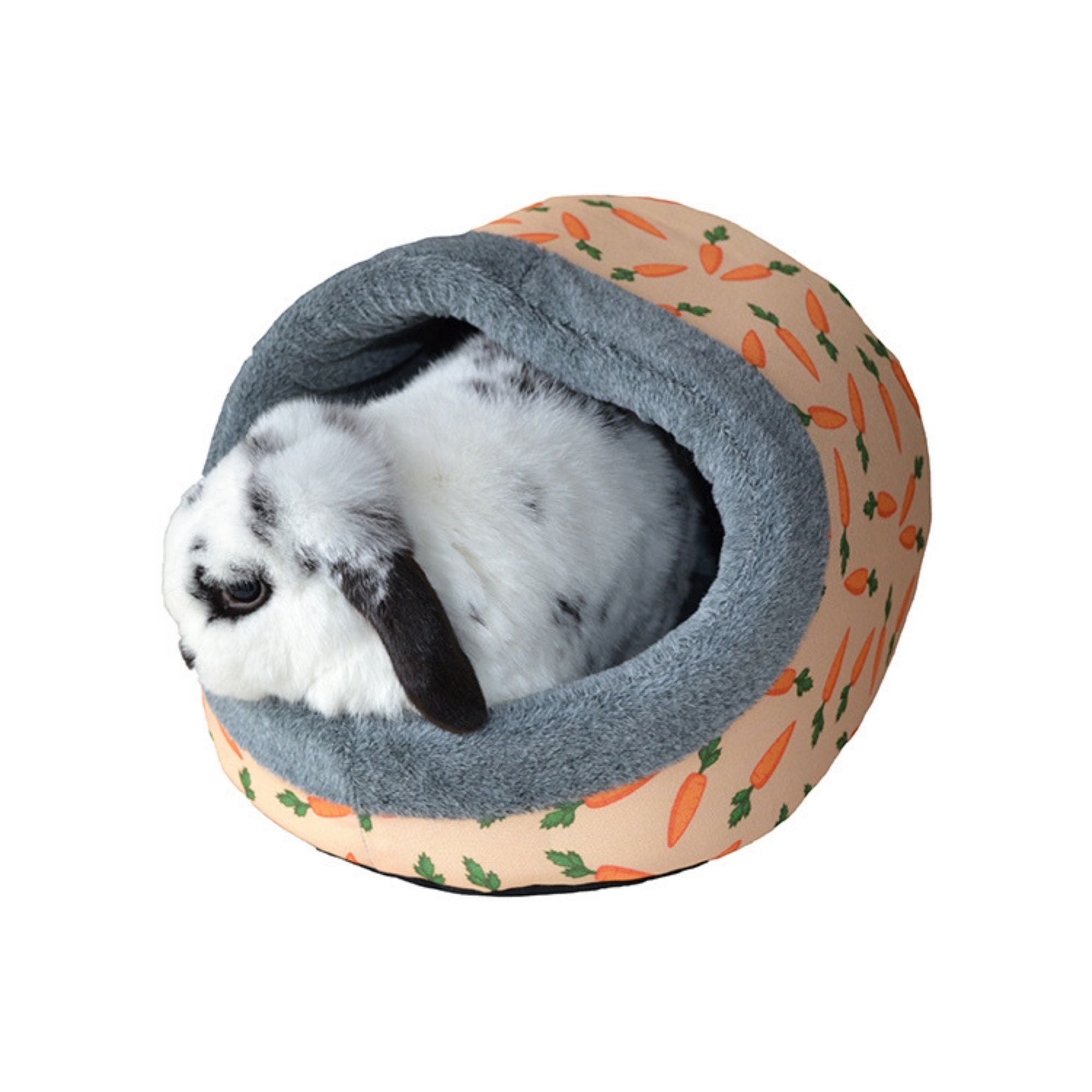 Rosewood Carrot Plush Hooded Bed for Rabbits | Barks & Bunnies