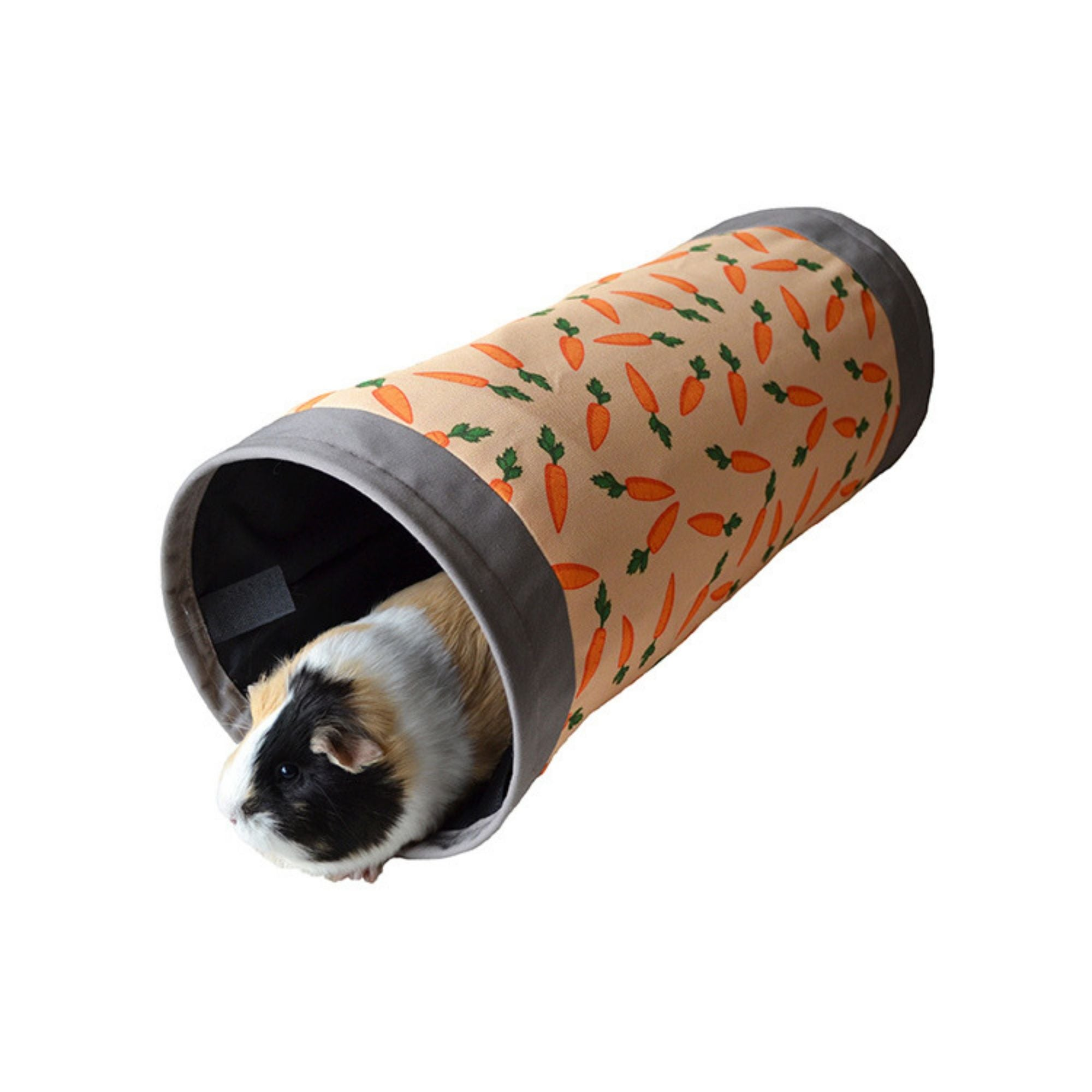 Rosewood Carrot Fabric Tunnel for Guinea Pigs | Barks & Bunnies