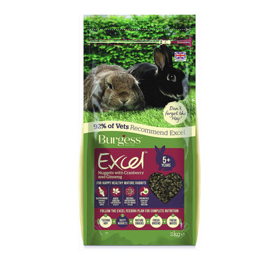 Burgess Excel Mature Rabbit 5+ with Cranberry & Ginseng | Barks & Bunnies