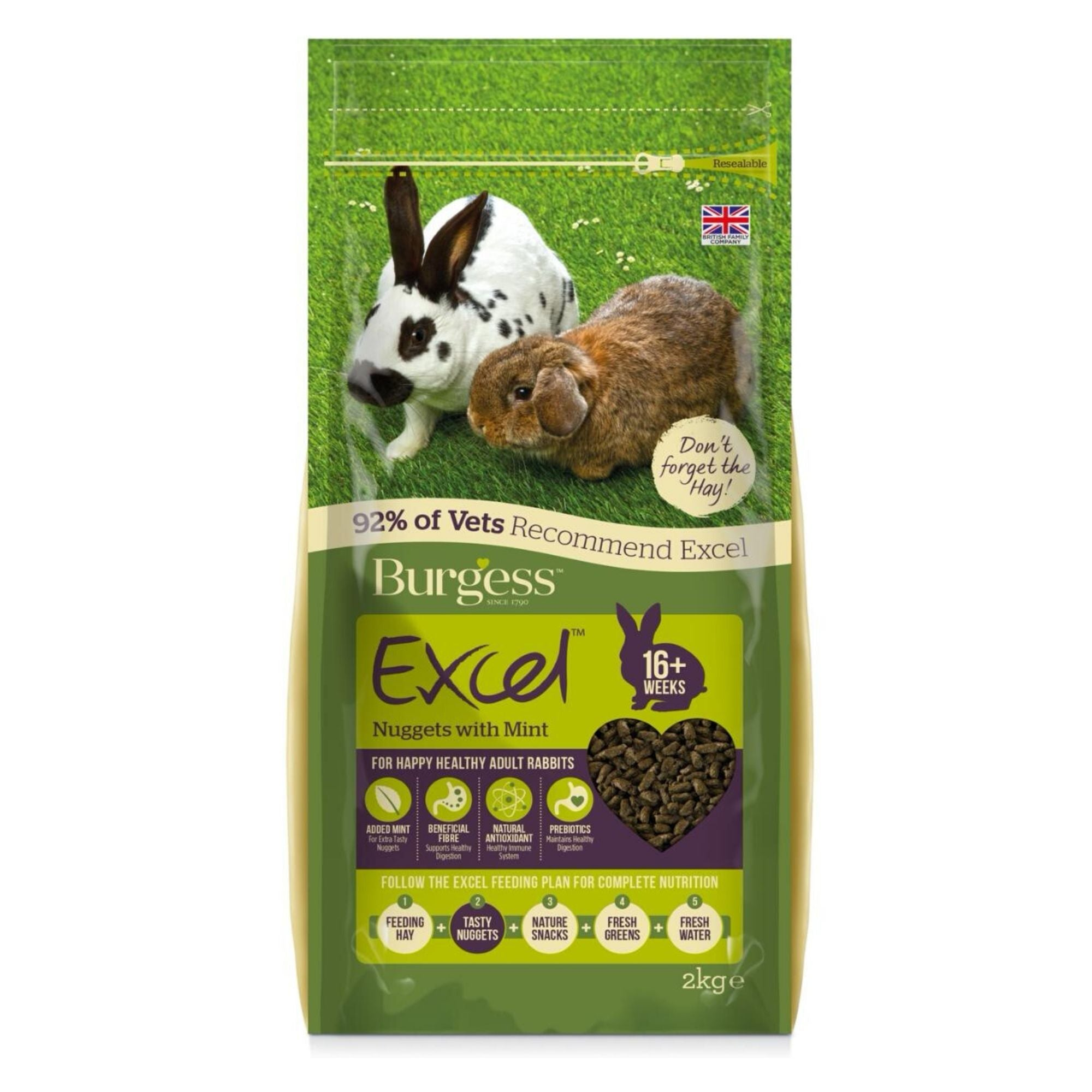 Burgess Excel Adult Rabbit Food with Mint (Pellets) | Barks & Bunnies