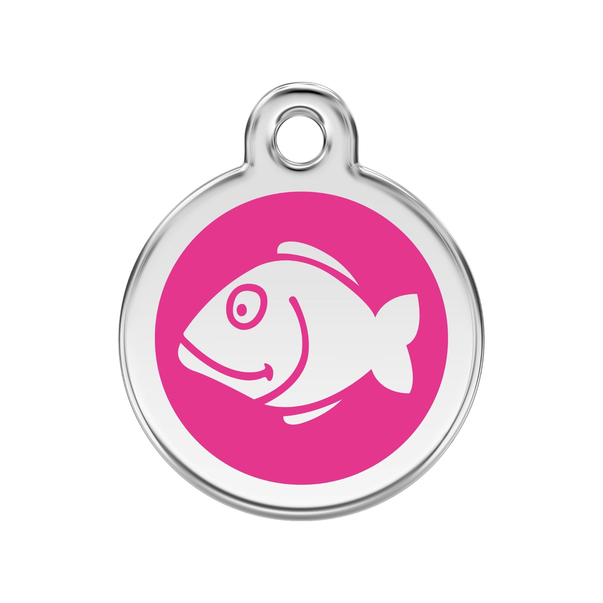 Red Dingo Fish Cat Tag, Enamel Pet Tag UK | Barks & Bunnies