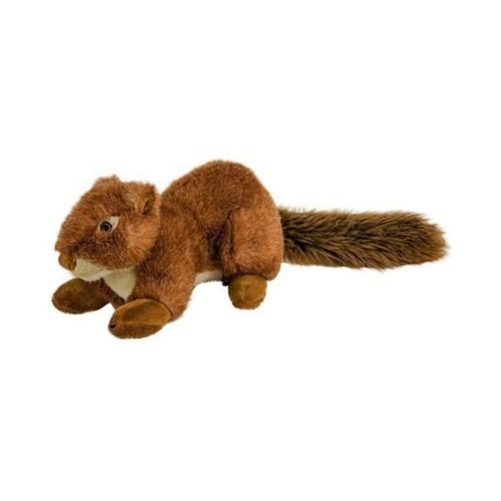 Fluff & Tuff Squeaker-less Red Squirrel, Durable Plush Dog Toys | Barks & Bunnies