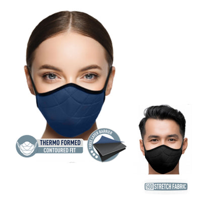 Sea to Summit Face Mask in Black & Blue | Barks & Bunnies