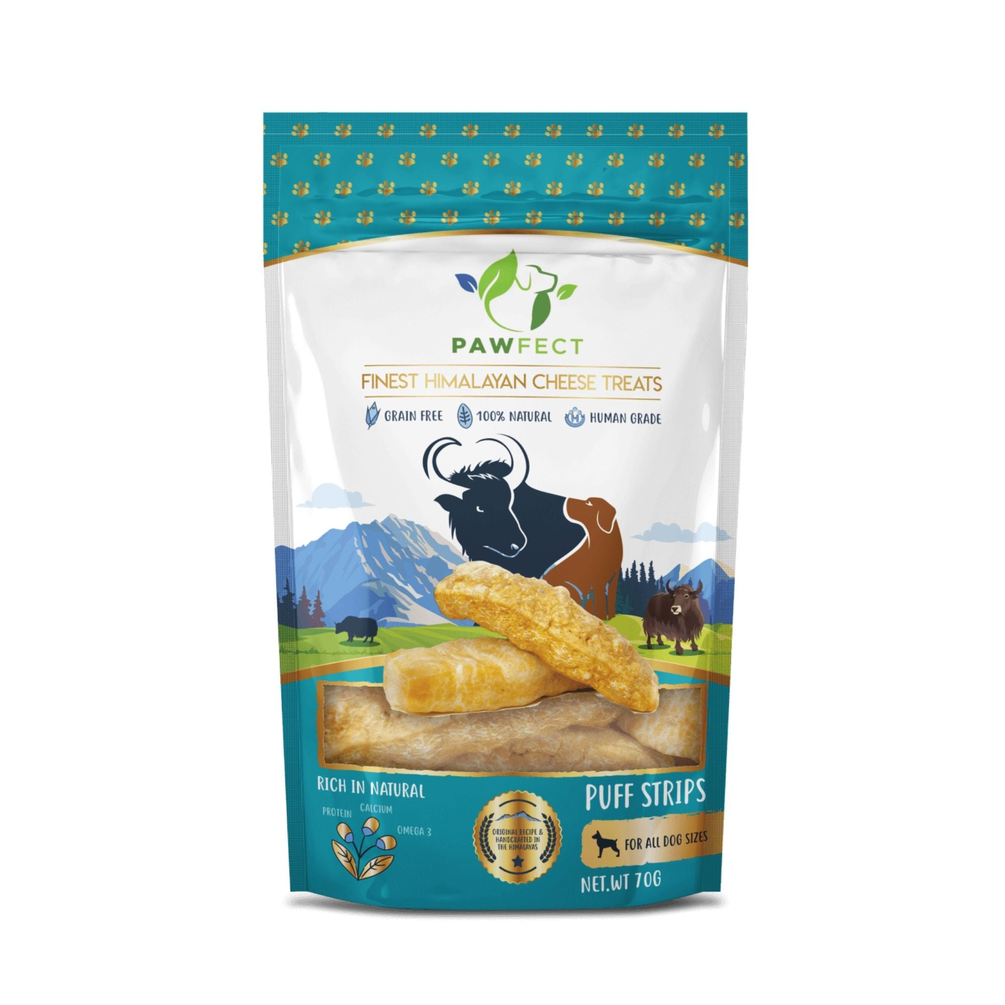 Natures Munch Pawfect Yakers Puff Strips | Barks & Bunnies
