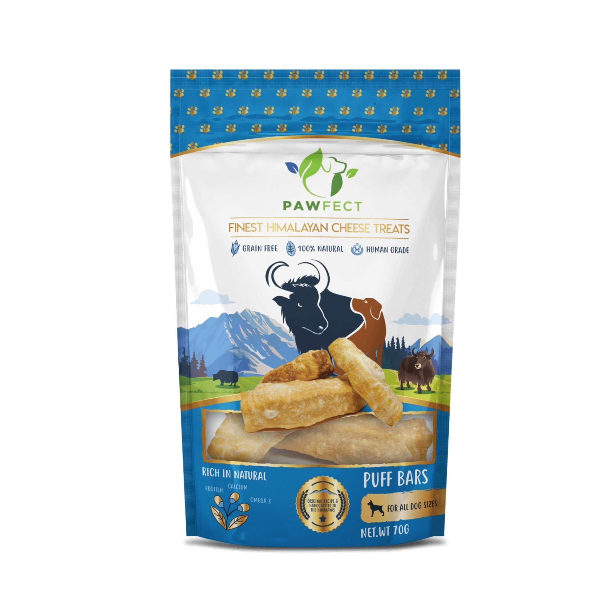 Natures Munch Pawfect Yakers Puff Bars | Barks & Bunnies