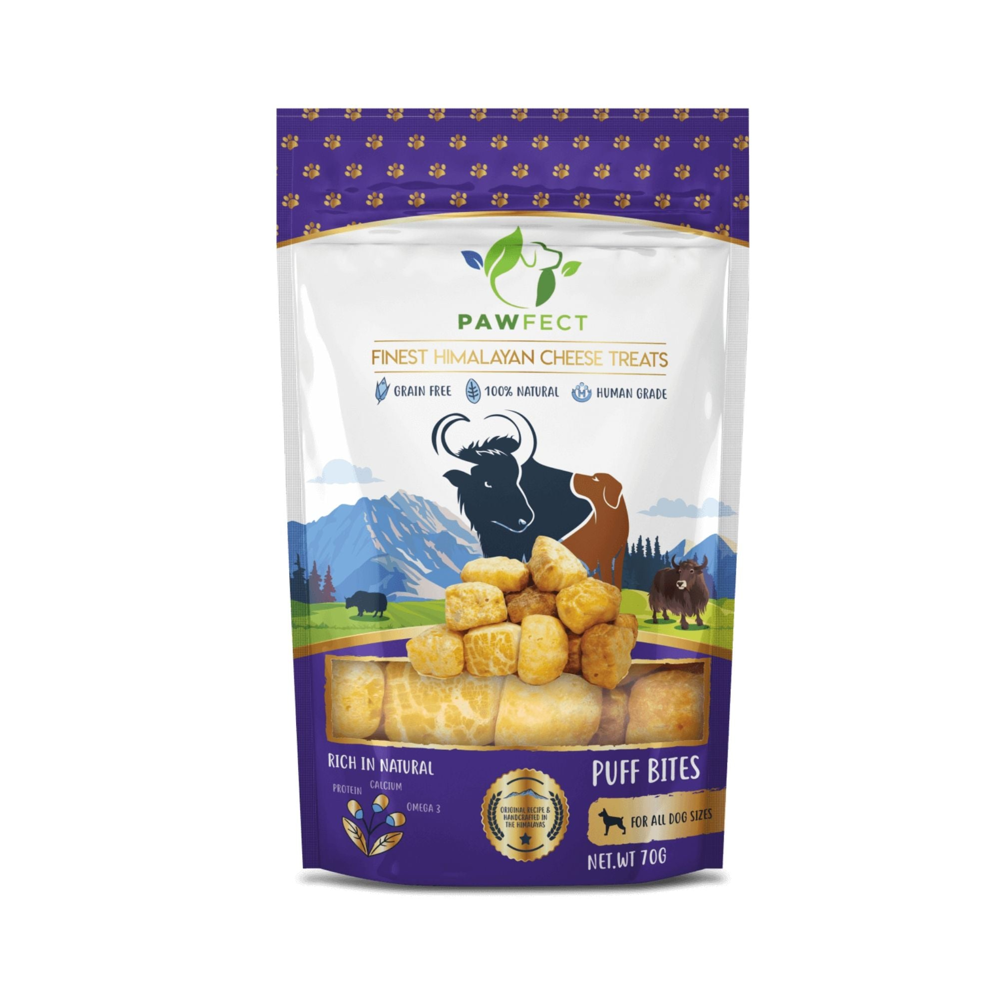 Natures Munch Pawfect Yakers Puff Bites | Barks & Bunnies