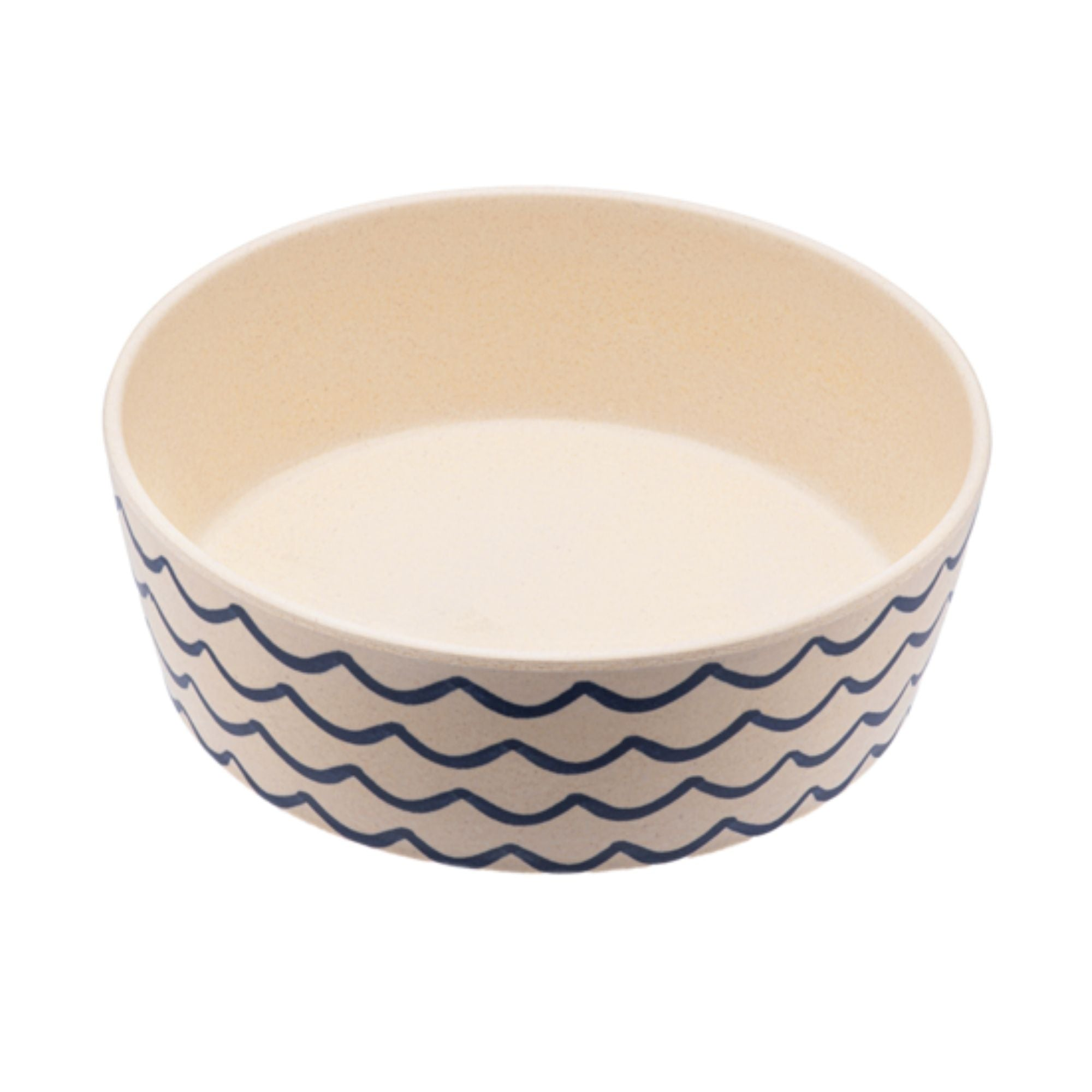 Beco Pets Eco-Friendly Bamboo Dog Pet Bowl Waves | Barks & Bunnies