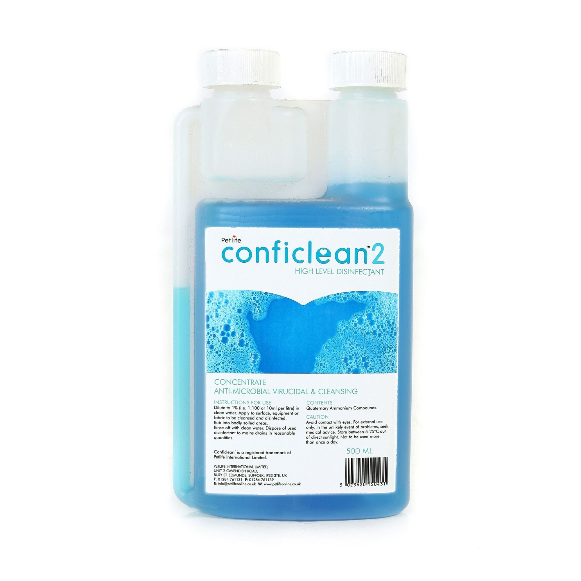 Conficlean2 Concentrated High Level Disinfectant | Barks & Bunnies