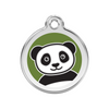 Red Dingo Panda Dog Tag, Enamel & Stainless Steel | Barks & Bunnies