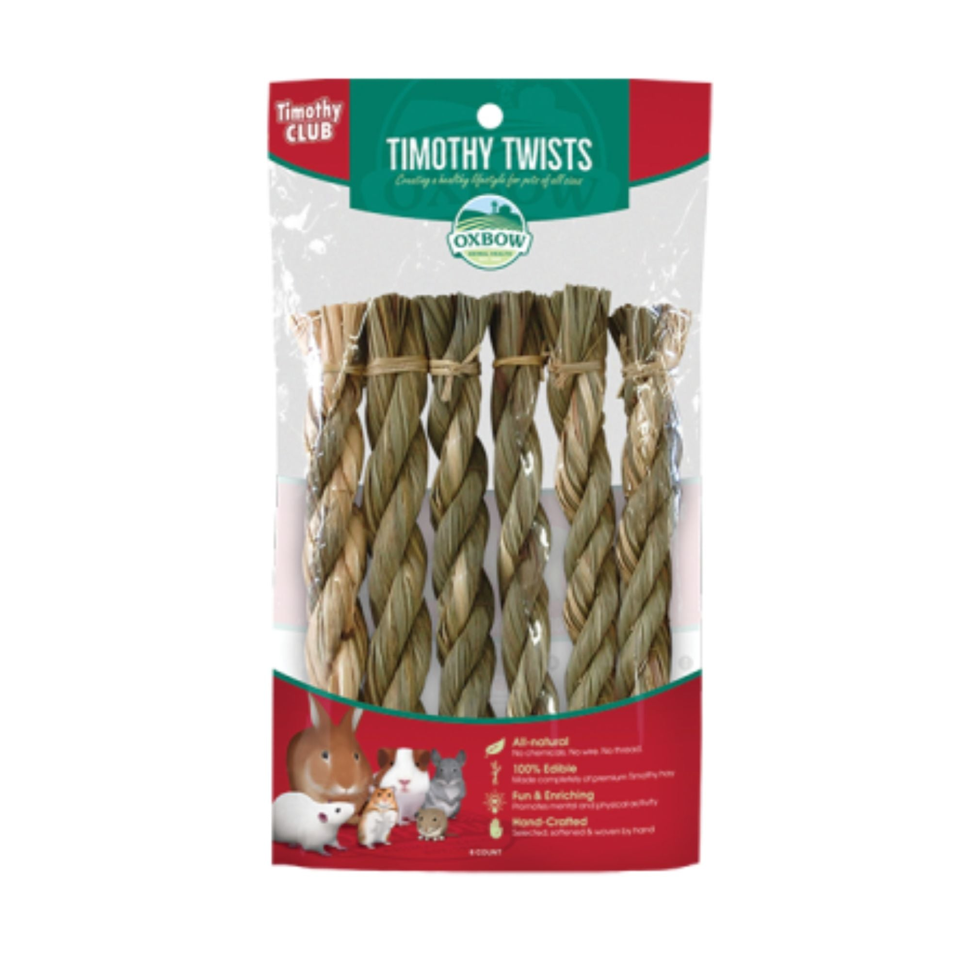Oxbow Timothy Twists for Rabbits & Small Animals | Barks & Bunnies
