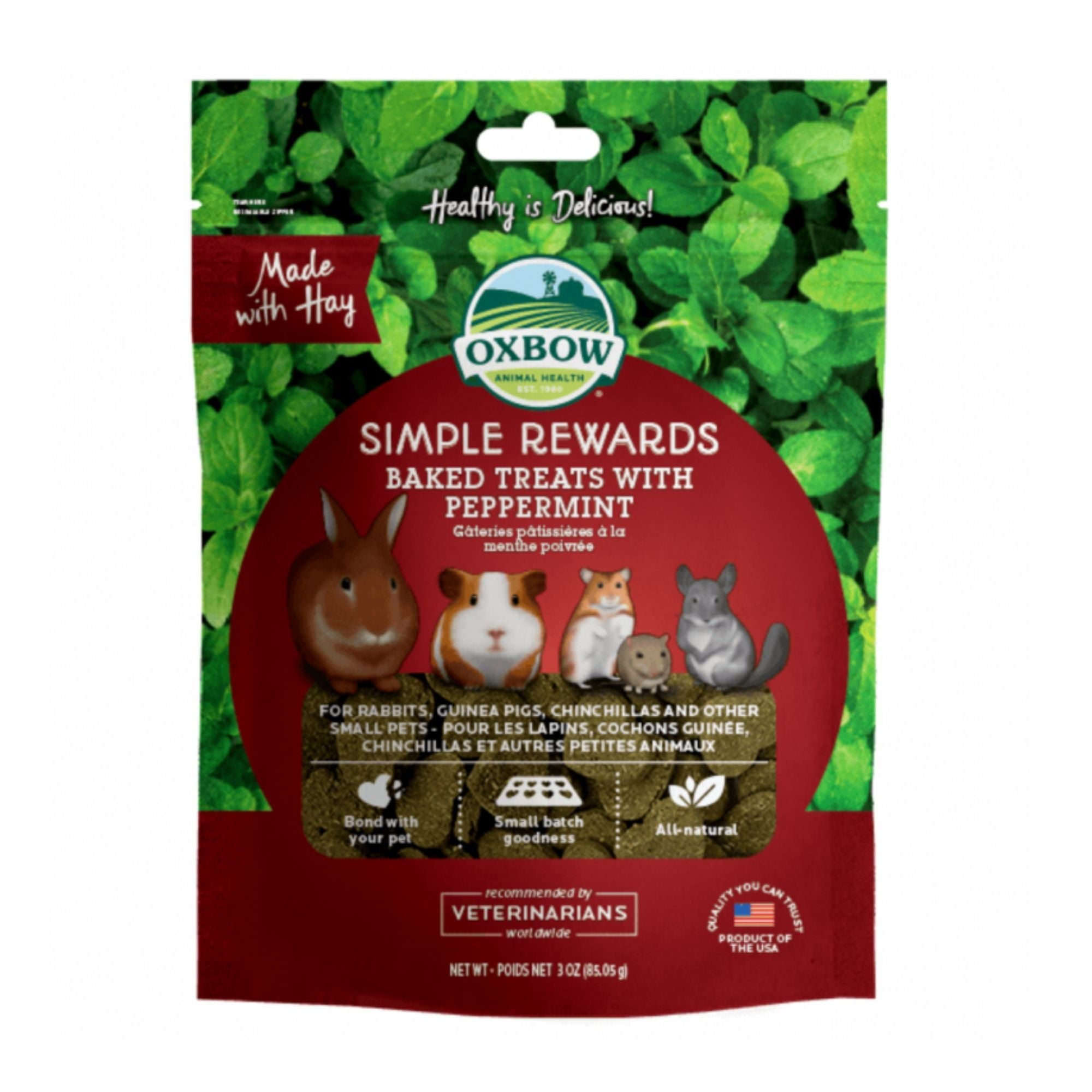 Oxbow Simple Rewards with Peppermint | Barks & Bunnies
