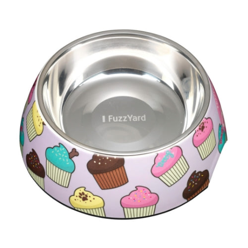FuzzYard Fresh Cupcakes Easy Feeder Pet Bowl for Dogs | Barks & Bunnies