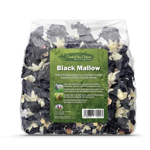 The Hay Experts Black Mallow, Flowers for Rabbits | Barks & Bunnies