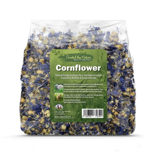 The Hay Experts Blue Cornflower, Flowers for Rabbits | Barks & Bunnies