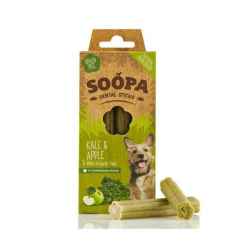Soopa Kale & Apple Dental Sticks, Natural Dog Chew | Barks & Bunnies