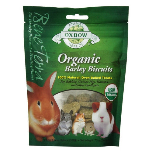 Oxbow Organic Barley Biscuits for Rabbits & Small Animals | Barks & Bunnies