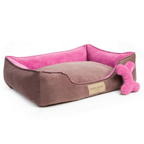 Bowl & Bone Republic Classic Bed Pink, Dog Bed | Barks & Bunnies