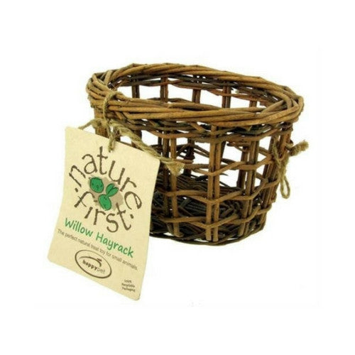 Nature First Willow Hay Basket for Rabbits & Small Animals | Barks & Bunnies