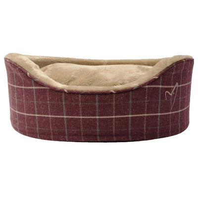 Gor Pets Premium Bed Wine Check, Luxury Dog Bed | Barks & Bunnies