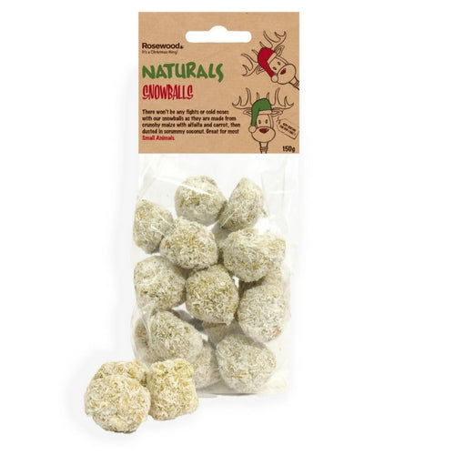 Rosewood Naturals Snowballs, Treats for Rabbits | Barks & Bunnies