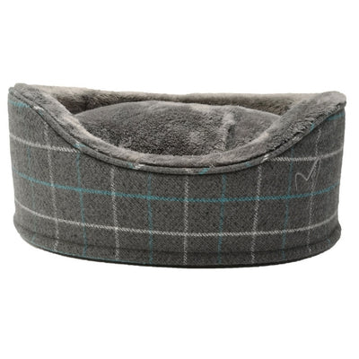 Gor Pets Premium Bed Grey Check, Luxury Dog Bed | Barks & Bunnies