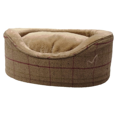 Gor Pets Premium Bed Beige Check, Luxury Dog Bed | Barks & Bunnies