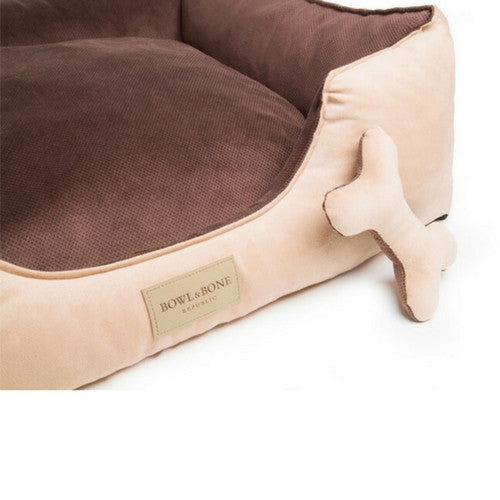 Bowl & Bone Republic Classic Bed Brown, Dog Bed | Barks & Bunnies